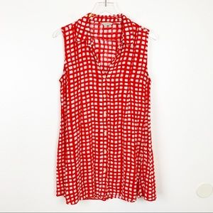 Anthropologie 11-1-TYLHO Sleeveless Button Blouse